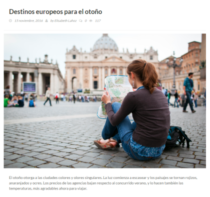 Artículos magazine. Turismo y Viajes