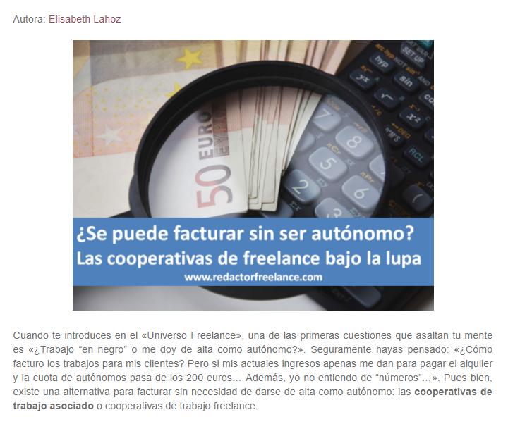 Cooperativas freelance laRedactorambiental